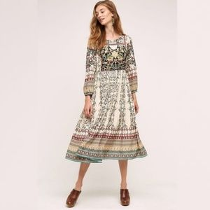 Anthropologie Bhanuni Far Fields Midi Dress